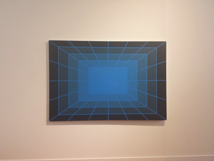 Large Blue One Point Perspective #1 by David Malek