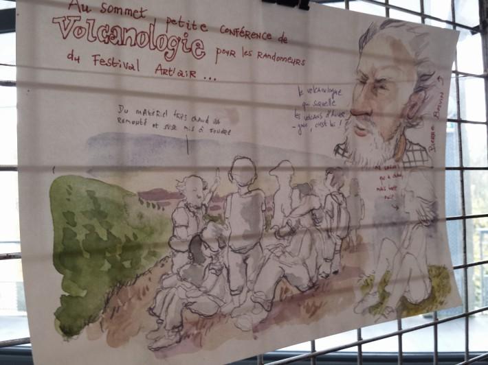 Les Urban Sketchers découvrent le festival Art'air ! Rando et culture !