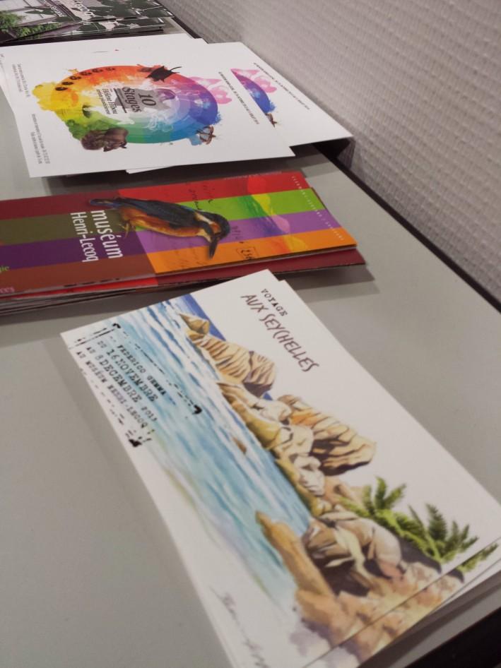 Petit clin d'œil à ma collègue Vinciane qui a réalisé ces belles cartes pour la nouvelle expo du musée Lecoq