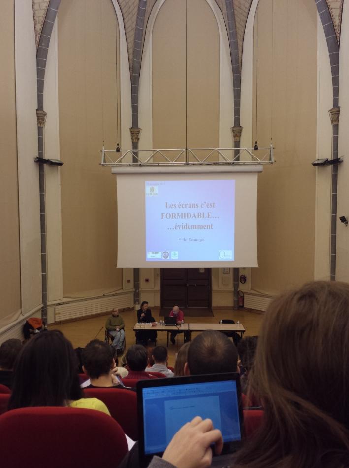 Exemple de deuxième écran, pendant la conférence ! ^^