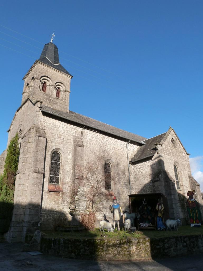 Eglise de Sous-Parsat et crèche géante