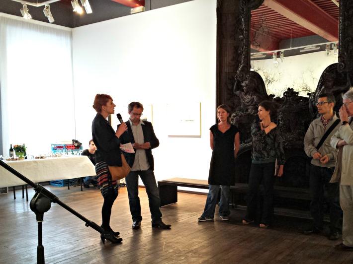 Vernissage avec notre nouvelle adjointe à la culture, Isabelle Lavest, et Thibaut Cuisset
