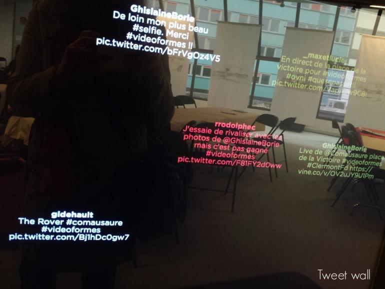 Le tweet wall de l'influence ! Avec Rodolphe, JD, Max et Lucie...